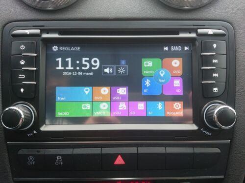 "Autoradio  GPS 3d  bluetooth  tactile AUDI A3 /""/"" PAS DE TAXE"