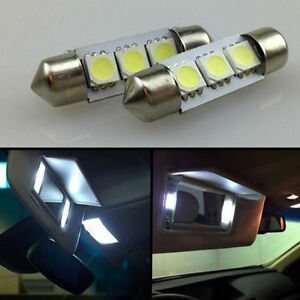 Xenon White Vanity 4 Pcs Sun visor  LED light Bulbs for Acura ZDX