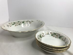 Embassy-USA-Vitrified-China-Dogwood-Bowl-5-1-4-Vintage-7-Serving-Bowl-10-1-4