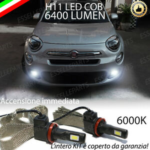 Lampade fendinebbia h8 led canbus fiat 500x 500 x 6000k for Lampade a led lumen