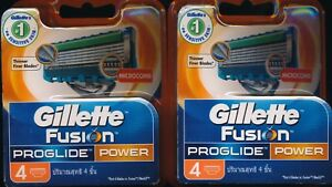 Gillette-Fusion-Proglide-Power-Shaving-Blades-8-piece-NEW-Genuine-German-made
