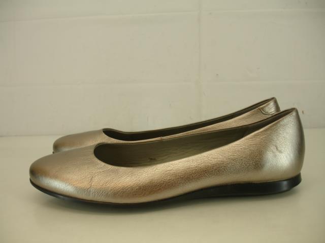 damen 9 9.5 40 ECCO ECCO ECCO Touch 2.0 Ballerina Ballet Flats schuhe Metallic Pewter Pump c2e182