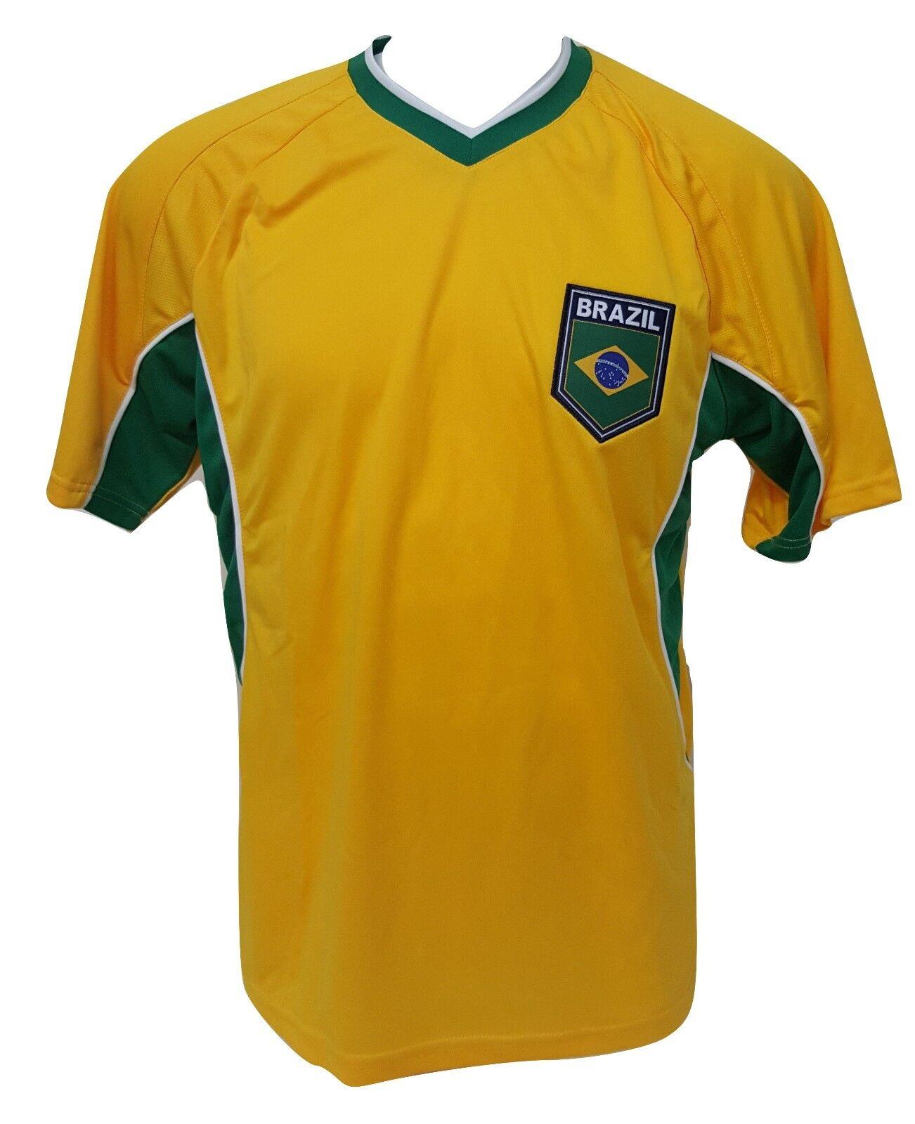 a8af31d2a87 Men s Medium Rhinox Brazil Soccer Jersey Shirt Yellow Green Spring ...