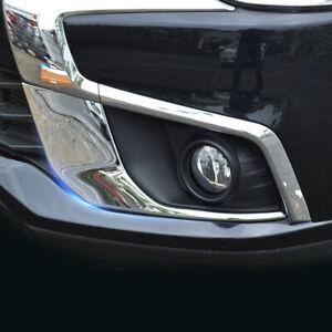 Front Fog Light Lamp Cover Trim 2pcs For Mitsubishi Outlander Sport ASX 16-18