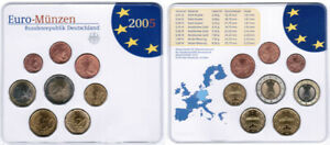 Germany Official Course Set 2005 F Drapes Bright Brilliant Uncirculated