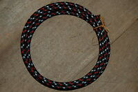 Black Red White Track Rayon Cloth Covered Wire 18/2 Vintage Lamp Fan Rewire