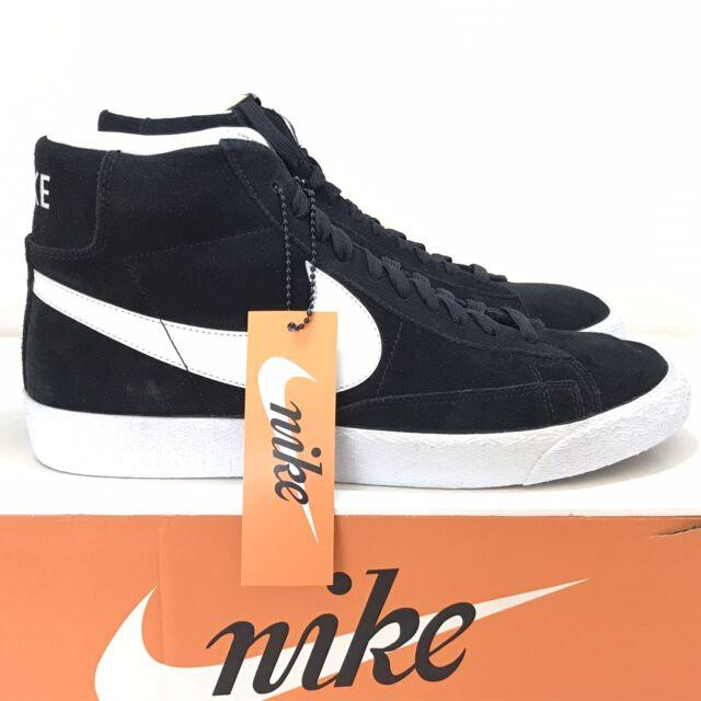 new Nike Blazer Mid PRM Black White Premium Mid Top 429988 006 Mens Size 11