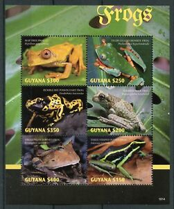 Guyana-2018-neuf-sans-charniere-grenouilles-Poison-Dart-Frog-6-V-M-S-Reptiles-amp-Amphibiens-timbres