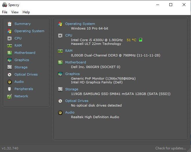 Dell E7240, i5 2.0 GHz, 8 GB ram