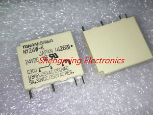Fujitsu Takamisawa Relais NA24W-K Relay 24V 2x UM Audio Signal 853043