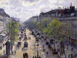 PAINTING-CITYSCAPE-PARIS-PISSARRO-MONTMARTRE-IN-SPRING-ART-PRINT-POSTER-LAH025