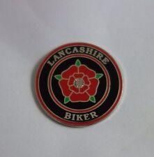 Lancashire Biker Enamel Pin Badge Motorcycle Biker Hells Angels  59 Rocker