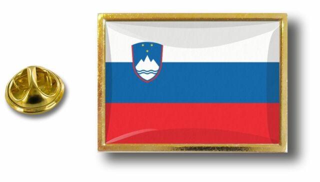 SLOVENIA Slovenian Country Metal Flag Lapel Pin Badge