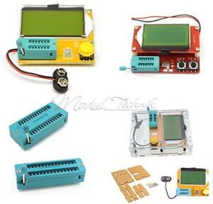 LCR-T4-LCR-T5-ATmega328-Digital-Transistor-Tester-12864-LCD-Capacity-ESR-Meter