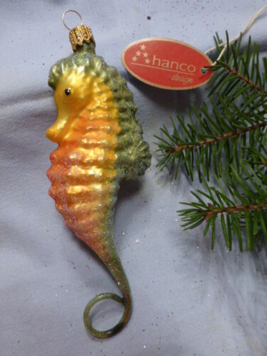 HANCO  Christbaumschmuck Weihnachtsschmuck NIKO  PINGUIN  HBca9//5cm Glas Handarb