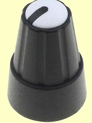 Poti-Knopf Drehknopf Achse: 6mm schwarz 3 Farben je 6 St H:19mm 18 pcs Zeiger