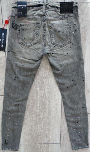 Halle basse Super Gr Etikett Jeans Neu Peinture 25 True Splatter mi Taille Religion z0RYHRwqE