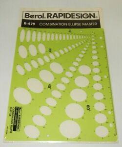 Berol Rapidesign Template 50 Degree R-78 20 30 40 Ellipse Master