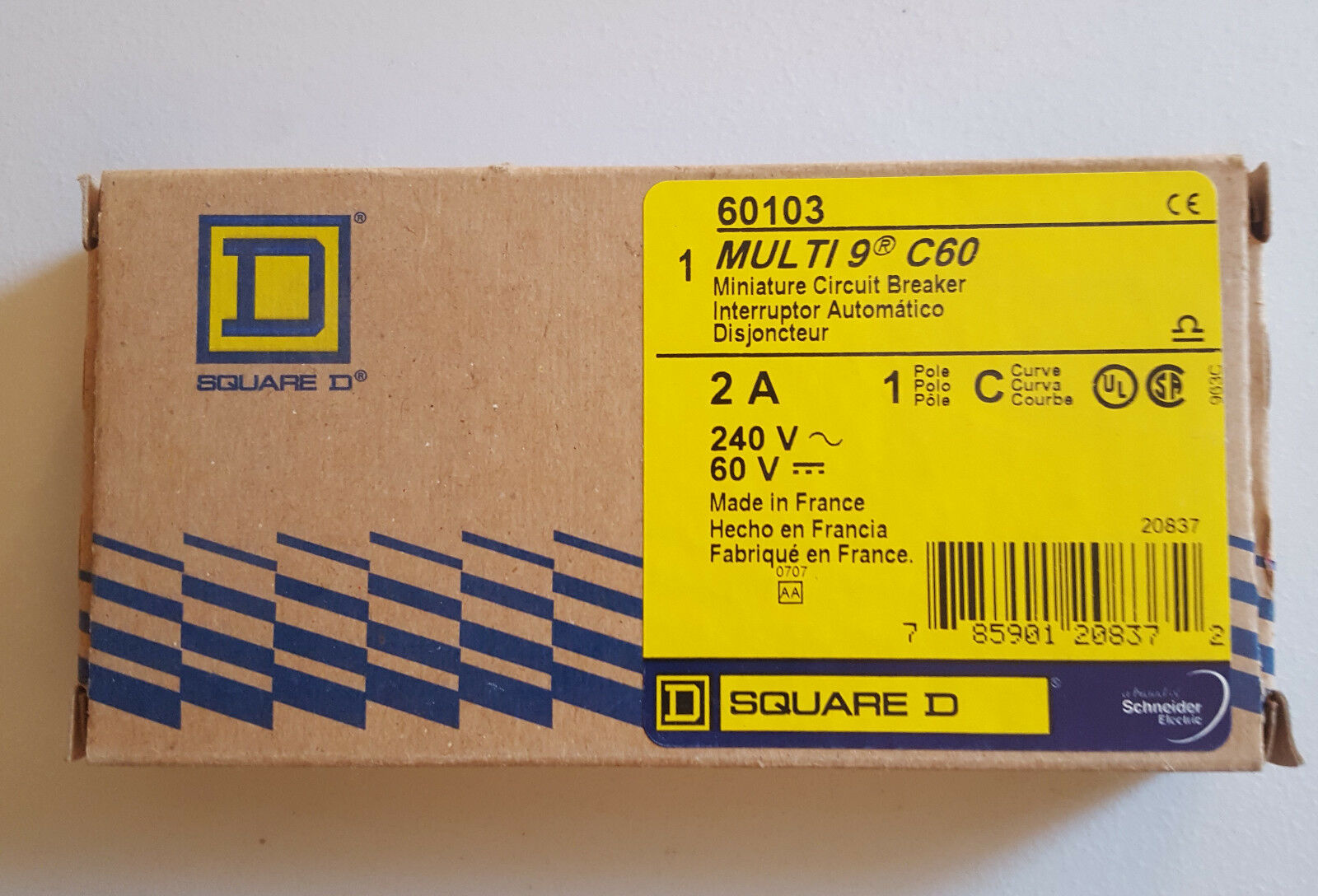 Lot Of 4 SCHNEIDER Thermal Magnetic Circuit Breaker 60104 1P 3A #1621P6