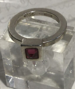 Amethyst Sterling Silver Circle Square Bracelet One-of-a-Kind