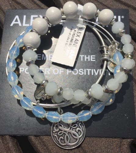 Alex and Ani Energy Bracelet Russian Silver Path of Life Set Serenity Enigma NWT