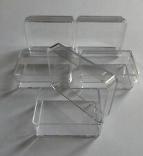 5 x Small Clear Plastic Boxes Ideal For Hooks, Connectors, Bushs & Small Parts