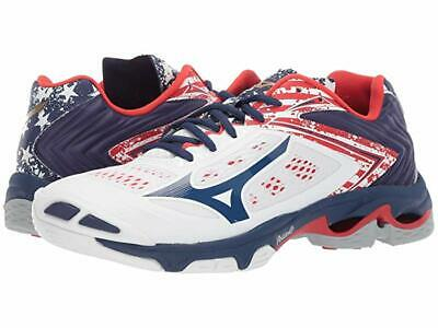 Mizuno Wave Lightning Z5 Volleyball Court Shoes Red//White//Blue 430263.0U0U