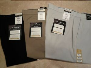 Haggar-Luxury-Comfort-Flat-Front-Casual-Dress-Pant-Choose-Color-and-Size