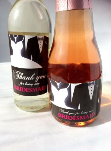 Thank you for being our Bridesmaid Maid of Honour Mini Labels Chief Bridesmaid