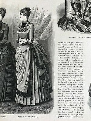 DOLLS garments MODE ILLUSTREE SEWING PATTERN Nov 3,1889 BRIDE DRESS