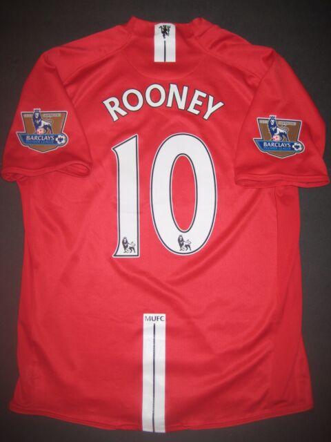 42158e6f6f7 2006-2008 Nike Manchester United Wayne Rooney Jersey Shirt Kit Maglia  England