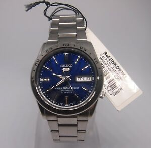 SEIKO-5-SNKD99K1-Stainless-Steel-Band-Automatic-Men-039-s-Blue-Watch-SNKD99-NIB