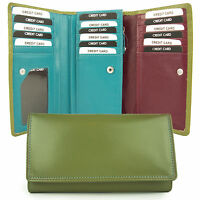 NEW Ladies Leather Purse/Wallet in 5 Designer Colours