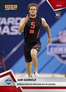 Details About 2018 Panini Instant 3 Sam Darnold Rc Nfl Draft Rookie Combine Usc Jets Qb Ps
