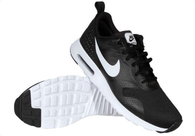 New Nike Black/White Air Max Tavas 705149-009 Black/White Nike Running Shoes Men 345273