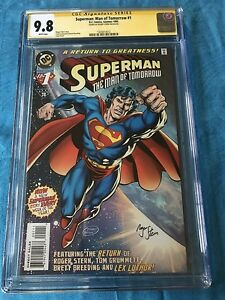 Superman-Man-of-Tomorrow-1-DC-CGC-SS-9-8-NM-MT-Signed-by-Roger-Stern