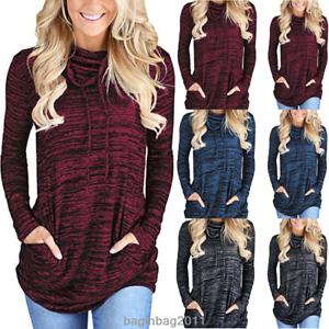 Women-039-s-Long-Sleeve-Hoodie-Sweatshirt-Sweater-Hooded-Jumper-Coat-Pullover-Tops