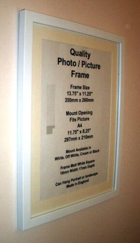 "White Photo Picture Frame 19mm 11/""x11/"" 11x12/"" 11x13 11x14 11x15-20/"" Mount Glass"