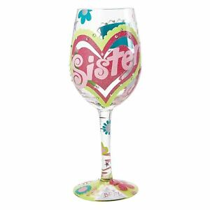 Image Is Loading Lolita Sister My BFF Wine Glass Hand Painted