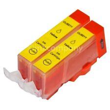 2 CANON Druckerpatronen mit Chip CLI-521 yellow IP 3600 IP 4600 IP 4700 NEU