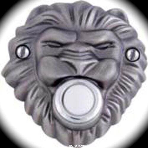 Atlas Homewares Renaissance Doorbell Pewter Revivalist Lion Head Fierce