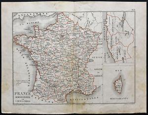 DéVoué 1850 - France Administrative - Carte Ancienne - Jubé De La Perelle - Rare Bon GoûT