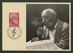Candide Suisse Mk 1985 Europe Cept Musique Ansermet Chef D'orchestre Maximum Card Mc Cm D6704-afficher Le Titre D'origine