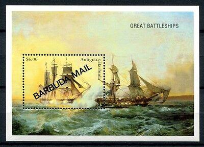 Barbuda 1997 Hist. Segelschiffe Gemälde Ships Paintings Navi Block 287 Mnh Refreshment