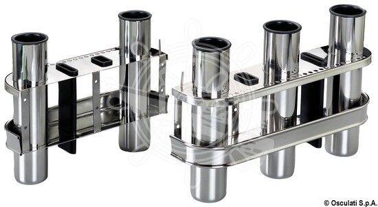 OSCULATI VA-Stahl Angelrutenhalter 2fach zur Wandmontage 2fach Angelrutenhalter 429d65