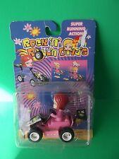 ROCK'N ROLL'N DIVA'S BOBBLE HEAD  PUSH AND GO RACE CAR