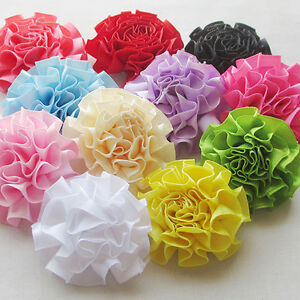 22pcs-New-Ribbon-Flowers-Bows-Sewing-Appliques-Craft-Wedding-Decoration-RB099
