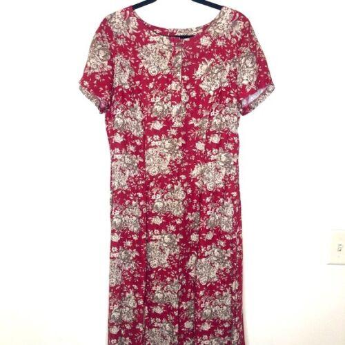 Vintage Laura Ashley Floral 90s Maxi Button Dress… - image 1