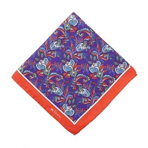 Kiton-Purple-and-Red-Intricate-Floral-Print-Silk-Pocket-Square