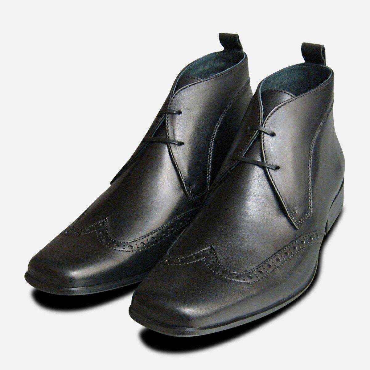 Wingcap Exceed Mens Black Chukka Boots